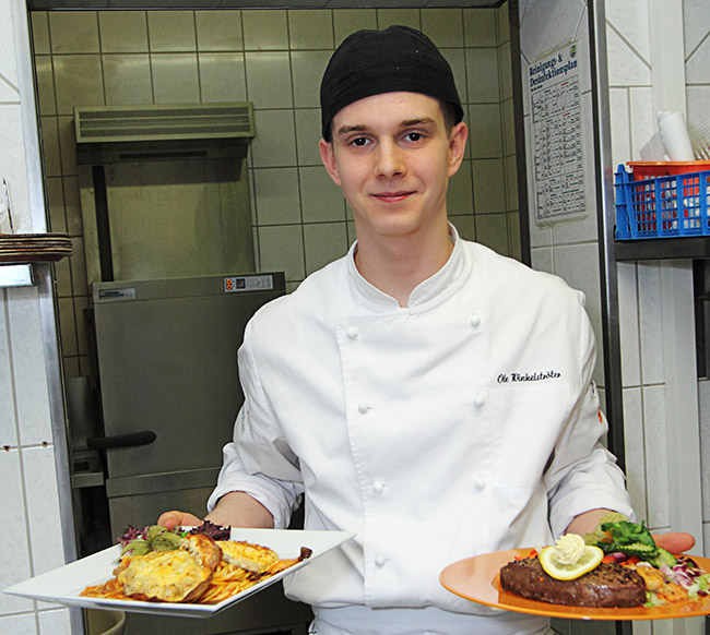 Sven Ole Winkelströter - Ausbildung zum Koch im Landgasthof Achtruper-Stuben