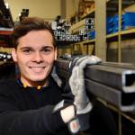 Kevin: Ausbildung zum Industriemechaniker bei der Aldra Fenster und Türen GmbH