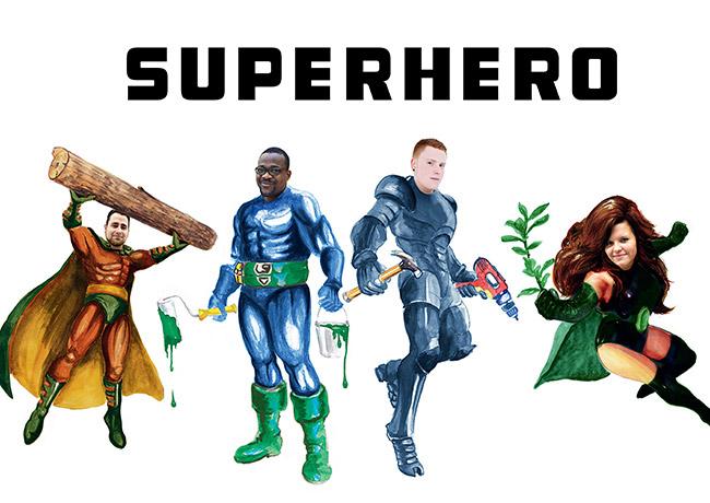 Werde Superhero im Hornbach Universe