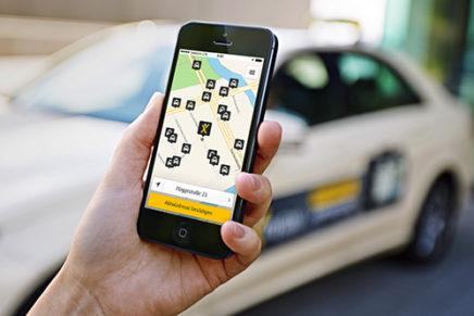 Mein Taxi kommt per Klick