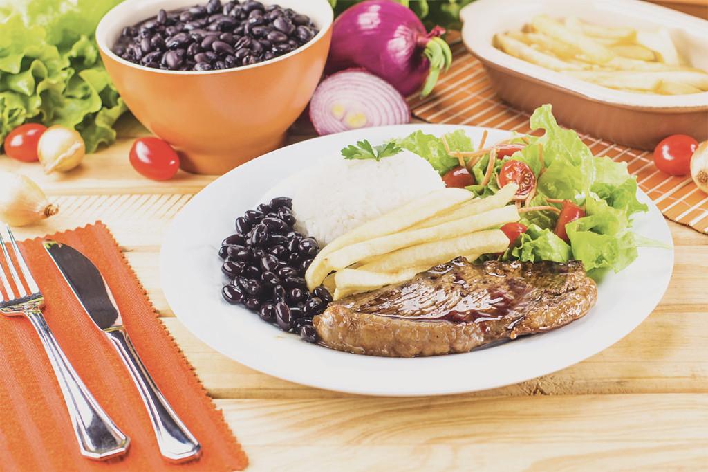 Eine mexikanische Mahlzeit.