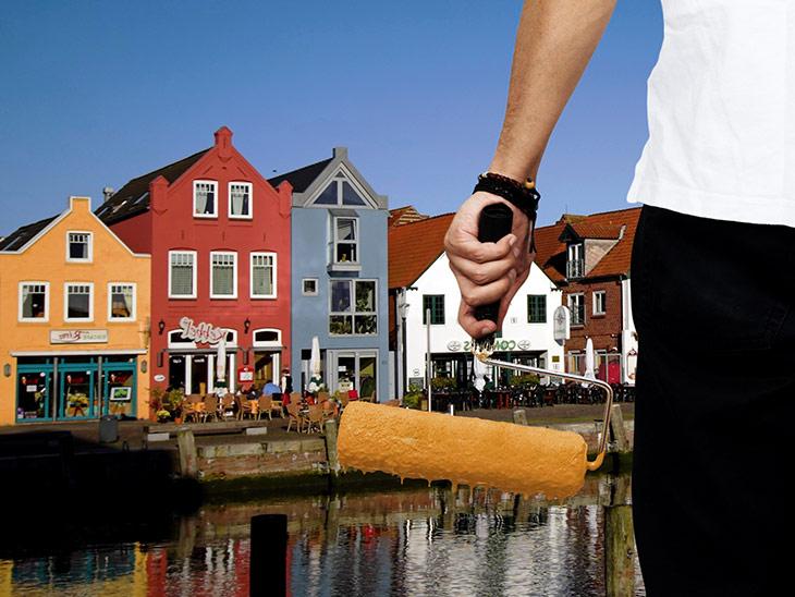Als Maler/-in und Lackierer/-in mit Fachrichtung Gestaltung und Instandhaltung arbeitest du permanent in Innenräumen oder an Fassaden.