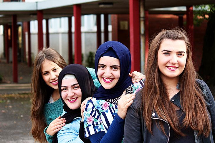 Von links: Selma, Rumeysa, Hazife, Melissa