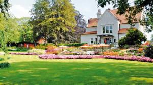Der Garten einer Villa in Neumünster.