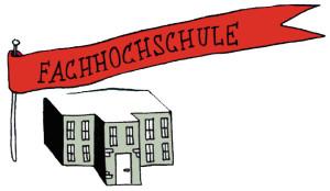 Illustration mit dem Thema Fachhochschule.