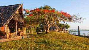 Eine Lodge an der Küste von Kenia.