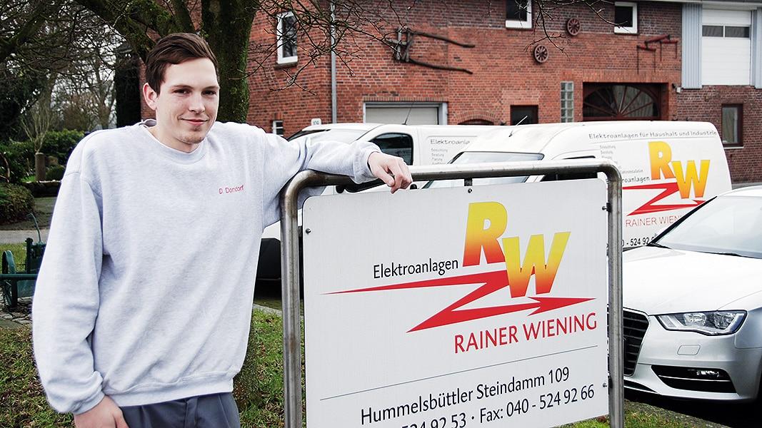 Dennis Dorndorf Geselle bei der Elektroanlagen RW GmbH
