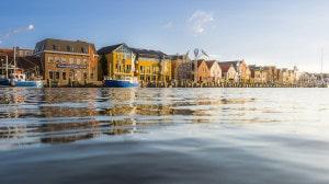 Das Hafenbecken von Husum