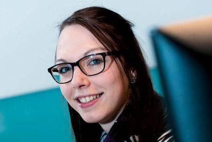 Caroline: Wird Bankkauffrau in der Dithmarscher Volks- und Raiffeisenbank eG