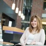 Sandra: Wird Bankkauffrau bei der VR Bank Flensburg-Schleswig eG
