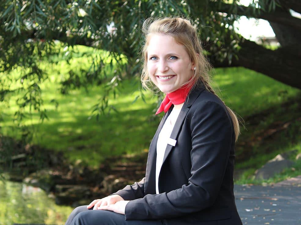 Katharina: wird Bankkauffrau bei der Förde Sparkasse