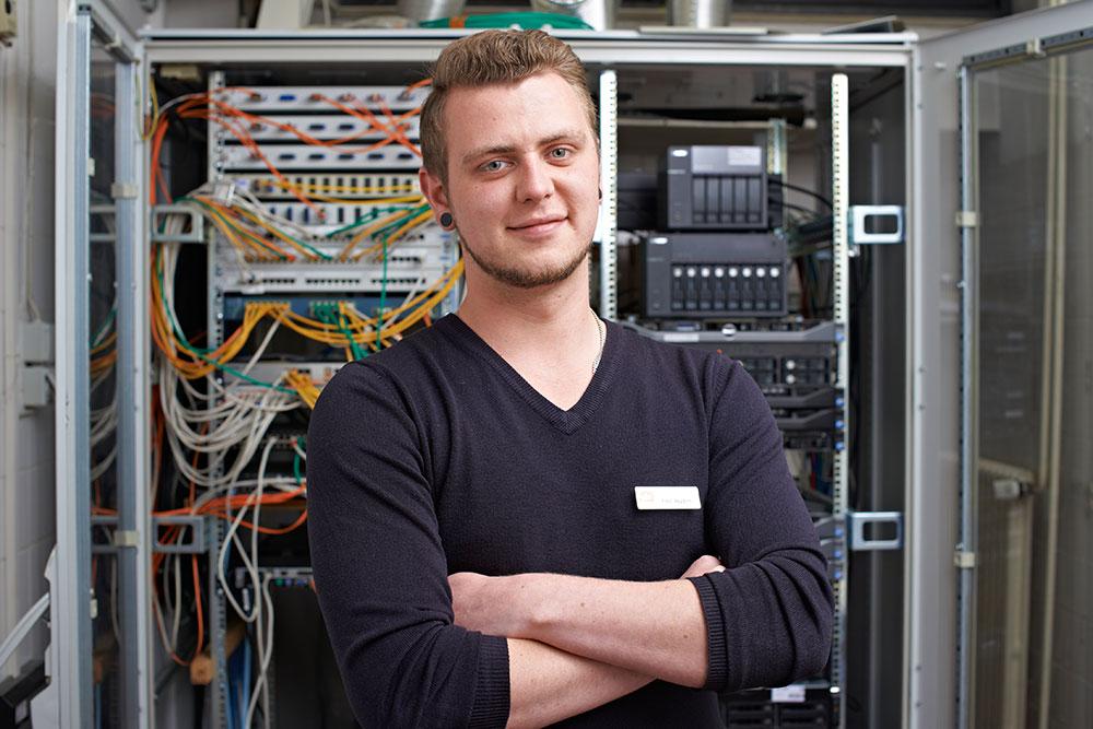 Finn: wird Fachinformatiker für Systemintegration bei der Stadtverwaltung Elmshorn
