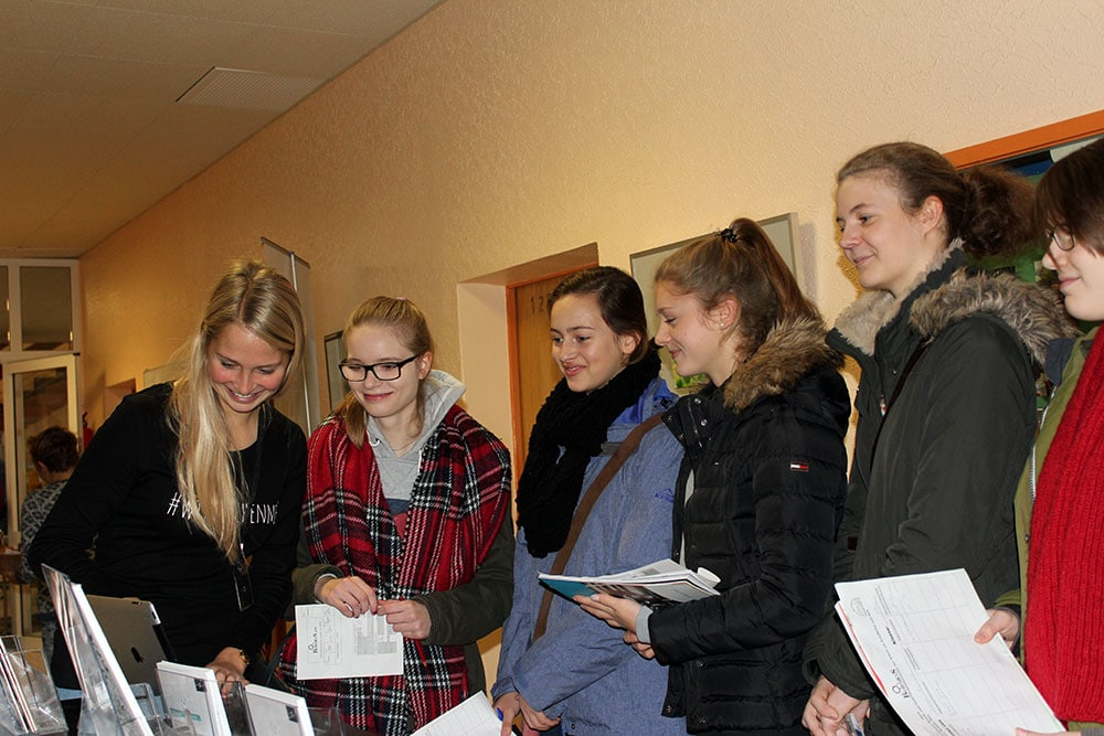 interessierte Schülergruppe Beruficius Plön