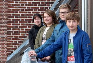 Schueler der gemeinschaftsschule Brundbuettel