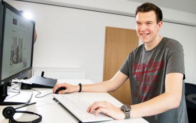 Lennart studiert Wirtschaftsinformatik bei der PPI Ag und der Wirtschaftsakademie Kiel
