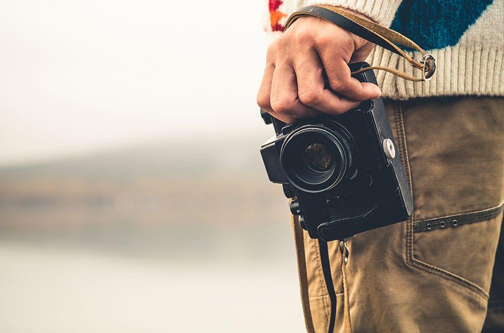Eine retro Kamera