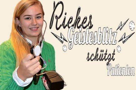 Jugend forscht: Riekes Geisterblitz schützt Patienten