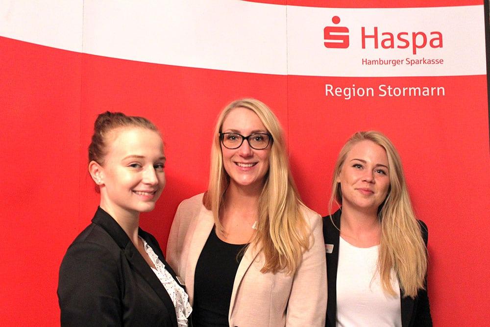 Das Team der Hamburger Sparkasse auf dem Reineke Ausbildungsmarkt