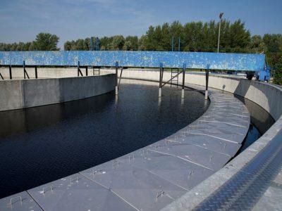 Ein Reinigungsbecken auf dem azv Gelände