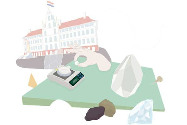 Illustration Antwerpen, Diamantschleifer