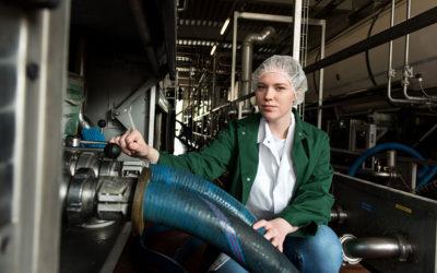Alina wird Milchtechnologin bei der Osterhusumer Meierei