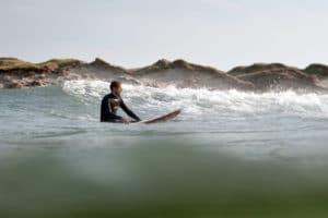 Sebastian Weimar beim Surfen