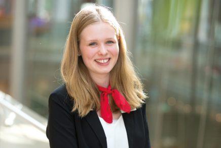 Jennifer: Wird Bankkauffrau bei der Förde Sparkasse