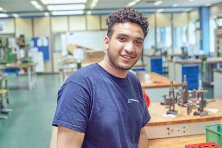Talal Al-Tarek: Wird Elektroniker für Betriebstechnik bei den Stadtwerken Kiel