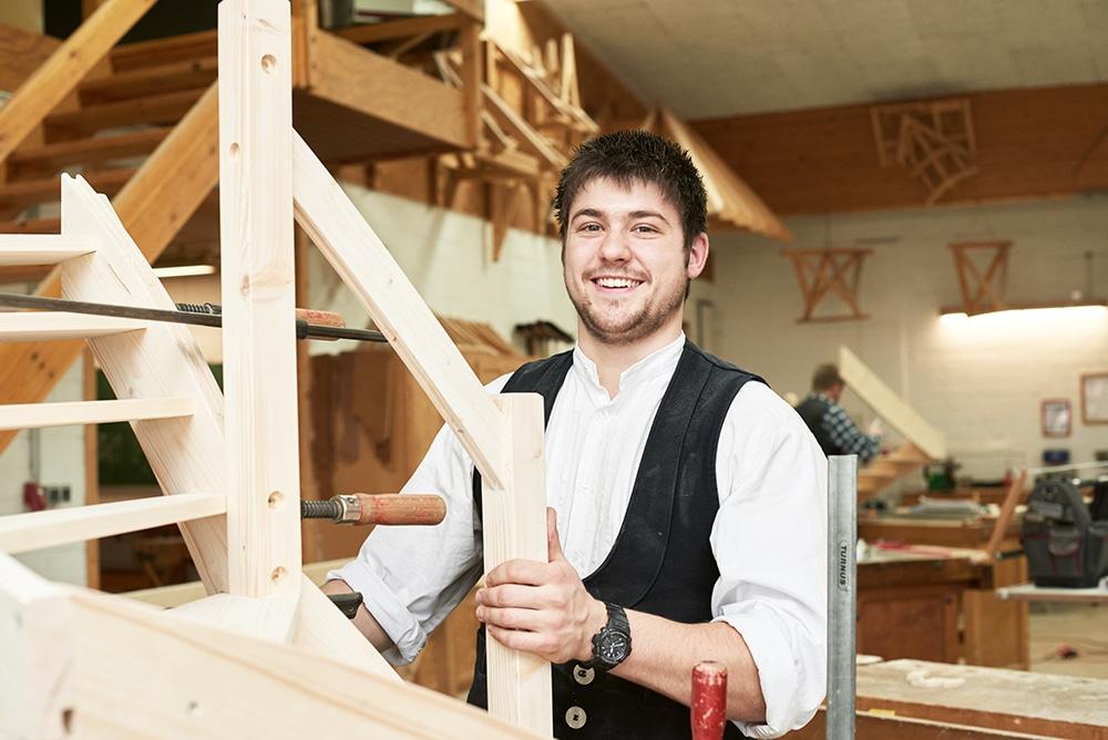 Moritz: Wird Zimmerer in der Kreishandwerkerschaft Heide