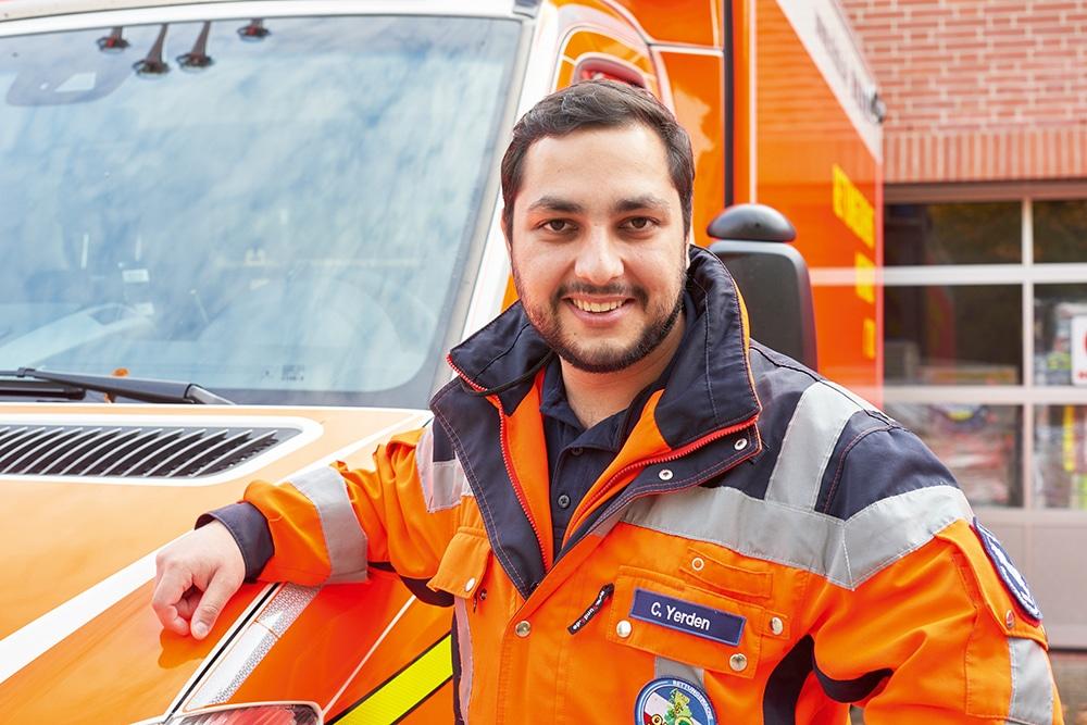 Caglar: Wird Notfallsanitäter bei der RKiSH