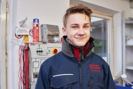 Malte: Wird Elektroniker bei der Firma Elektro Bollmann GmbH