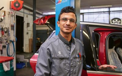 Taha wird KFZ-Mechatroniker bei Auto Schwerdtfeger