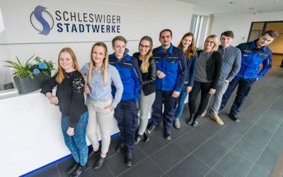 Die Schleswiger Stadtwerke haben richtig sympatische Azubis