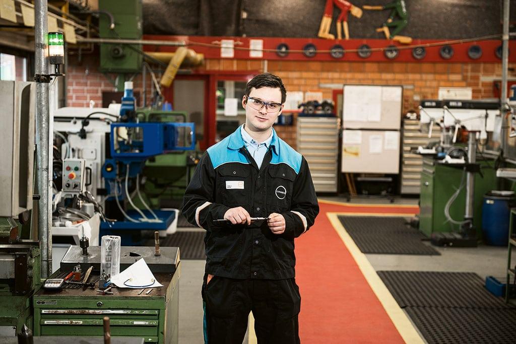 Fiete Wenn, macht eine Ausbildung zum Industriemechaniker bei Covestro
