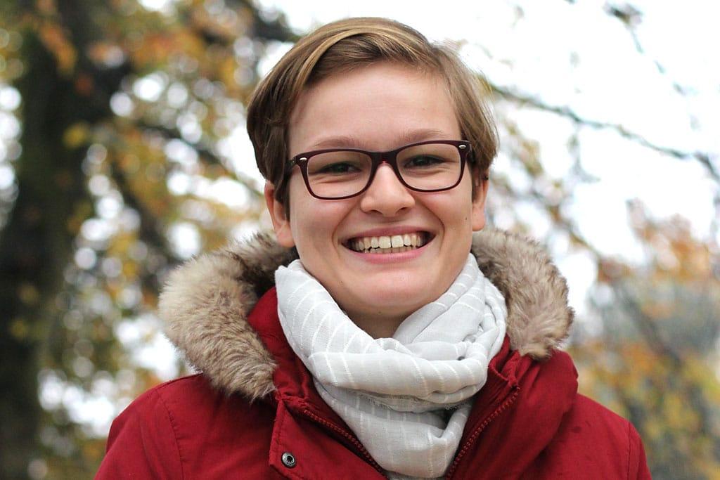 Jana Bestmann absolviert ein duales Studium bei der Stadtverwaltung Elmshorn