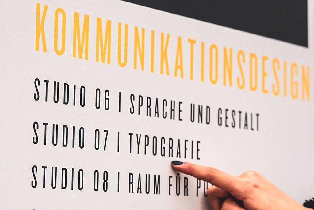 Typografie im Studium Kommunikationsdesign an der Muthesius Kunsthochschule Kiel