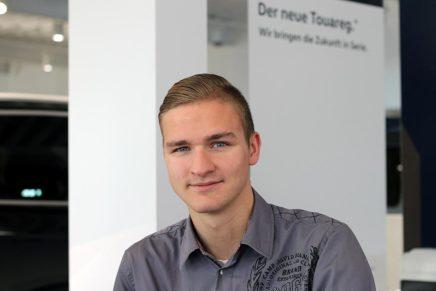Nicolay: Kaufmann für Büromanagement beim Autohaus Kornkoog
