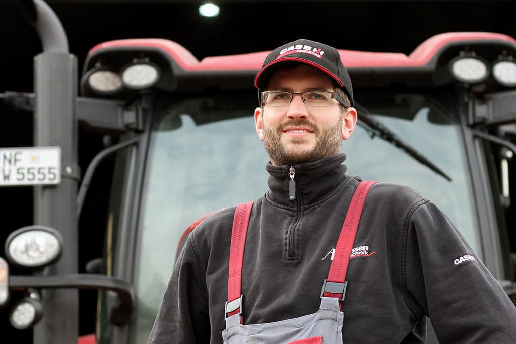Patrick: Werkstattleiter bei Asmussen Landtechnik
