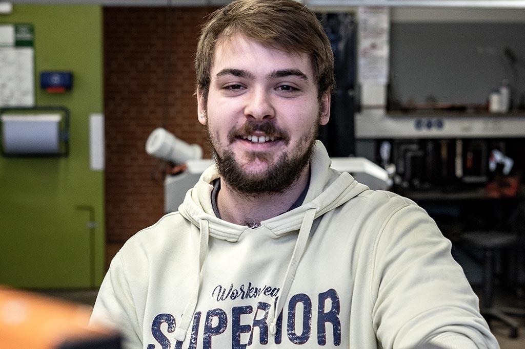 Jan wird Anlagenmechaniker für Sanitär-, Heizungs- und Klimatechnik an der Beruflichen Schule in Husum