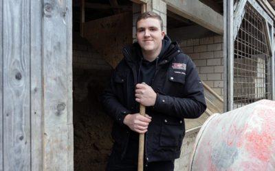 Lasse wird Maurer bei der Lorenzen-Nissen Bau GmbH
