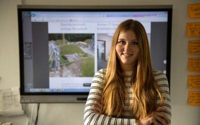 Lisa absolviert ihr Duales Studium Bauingenieurwesen bei der GMSH
