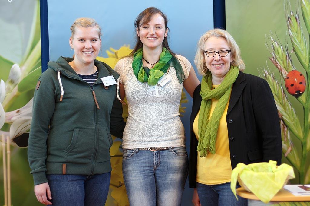 Berufsmesse der Isarnwohld-Schule Gettorf- Das Messe-Team der Norddeutschen Pflanzenzucht (NPZ)- v.l.n.r. Katja Oxe, Sandra Stindt & Jana Rüger
