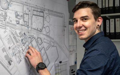 Leon wird Technischer Produktdesigner bei TOTAL Bitumen in Brunsbüttel