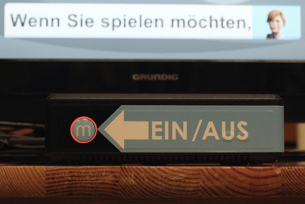 Die ,memore' Spielekonsole vom DRK Brunsbüttel beim Tag der Ausbildung in Brunsbüttel