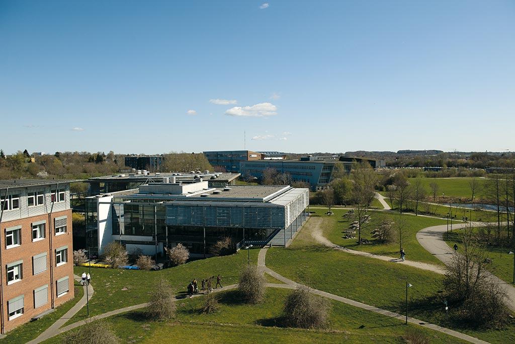 Ausblick über den Campus der Hochschule Flensburg