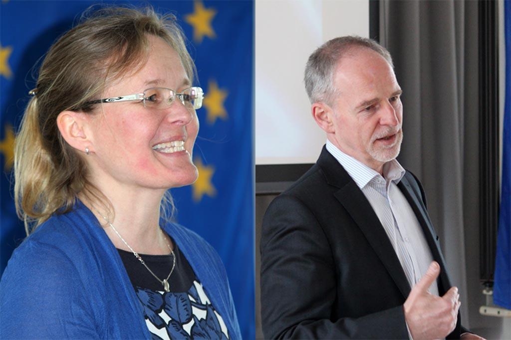 Organisatorin Tanja Reitler und Schulleiter Michael Kwauka