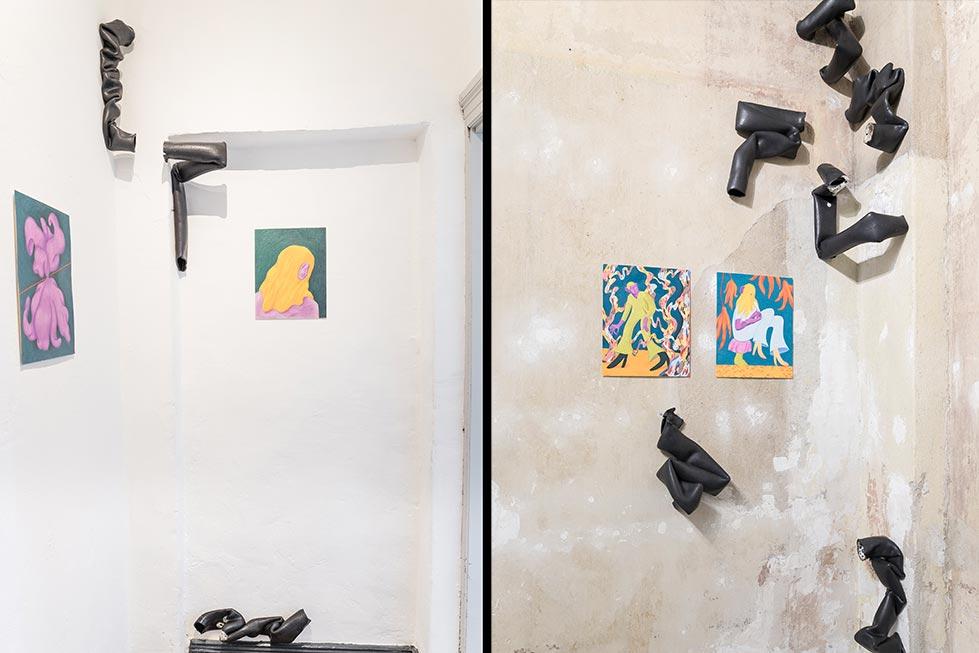 """In der Gallery Cube + fand die Vernissage der Ausstelung """"Somehow it happend"""" statt"""