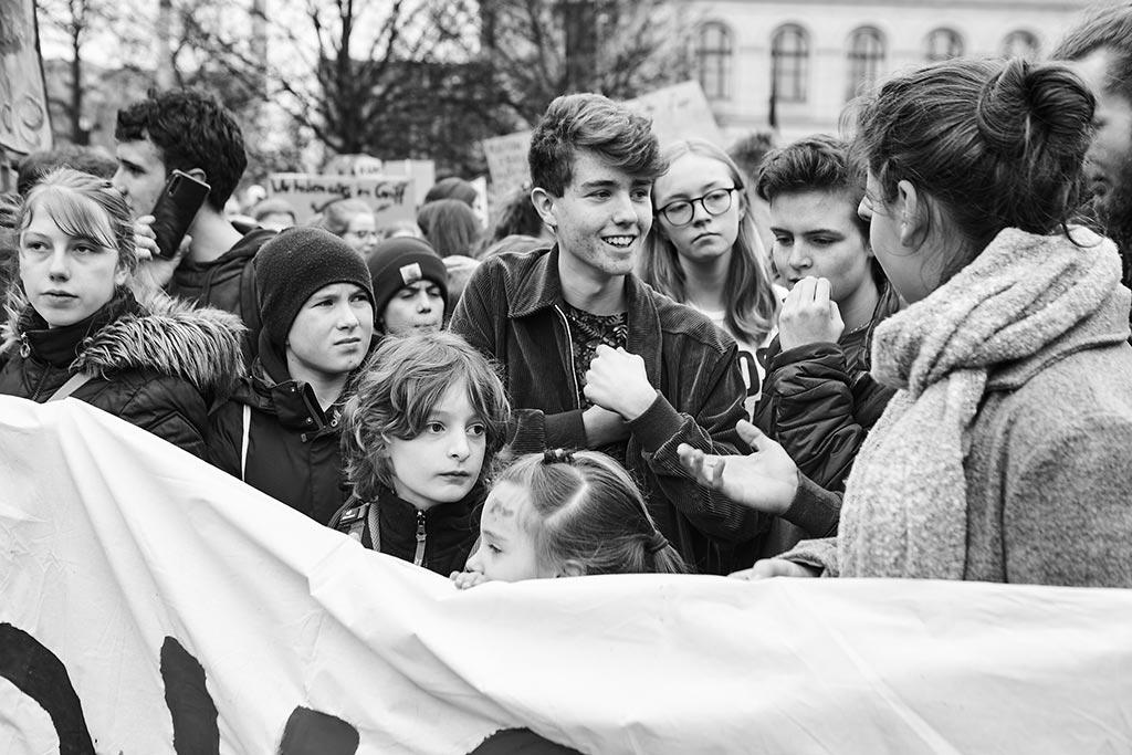 Während der Fridays For Future Proteste in Berlin