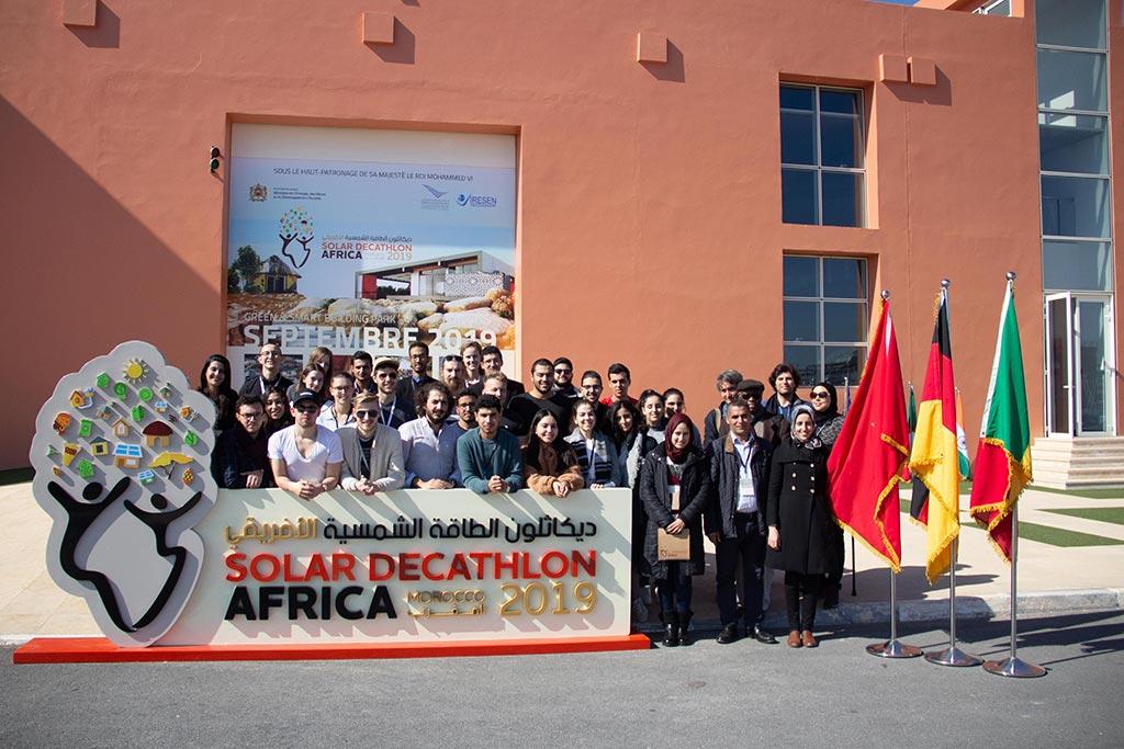 Das Solar-Decathlon Team aus Lübeck, Rabat und Dakar.