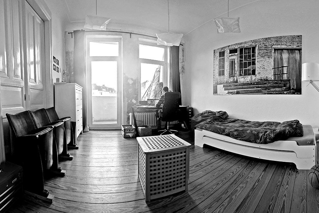 Darios Zimmer in der Männer-WG